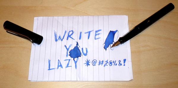 write-you-lazy